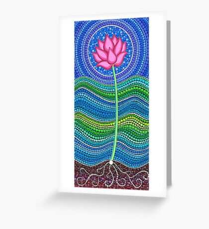 Lotus Growing Greeting Card