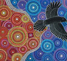 Raven Bringing in the Light by Elspeth McLean