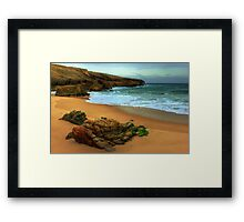 shaped by the sea.... Framed Print