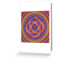 Red Ouroboros Celtic Snake Greeting Card