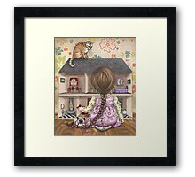 the doll house Framed Print