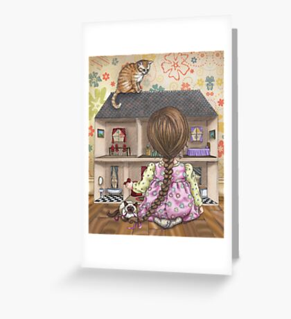 the doll house Greeting Card