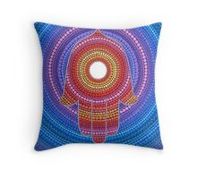 Hamsa- Protection against the Evil Eye Throw Pillow