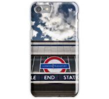 Mile End Tube Station iPhone Case/Skin