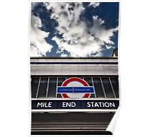 Mile End Tube Station Poster