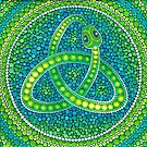 Green Ouroboros Celtic Snake by Elspeth McLean