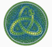 Green Ouroboros Celtic Snake Kids Tee