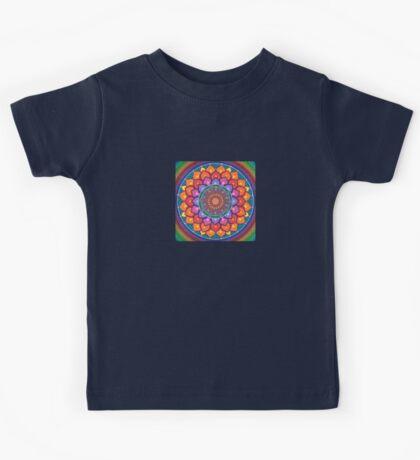Lotus Rainbow Mandala Kids Tee