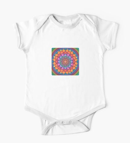 Lotus Rainbow Mandala Kids Clothes