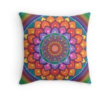 Lotus Rainbow Mandala Coussin