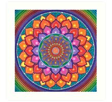 Lotus Rainbow Mandala Impression artistique