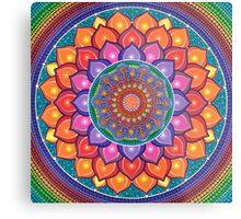 Lotus Rainbow Mandala Metal Print