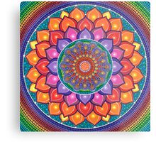 Lotus Rainbow Mandala Impression métallique