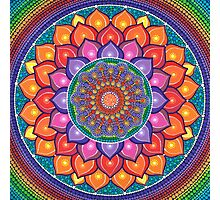 Lotus Rainbow Mandala Photographic Print