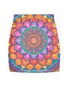 Lotus Rainbow Mandala Minijupe