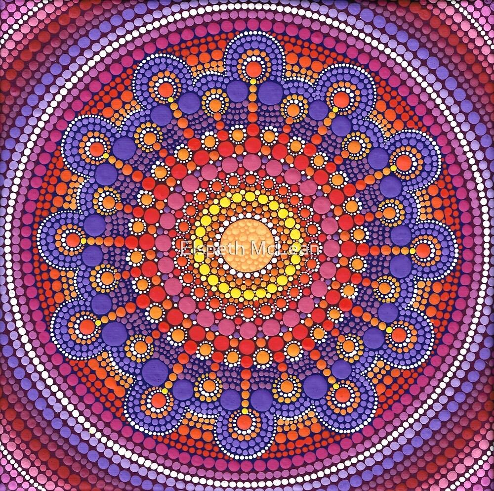 Jewel Drop Mandala by Elspeth McLean