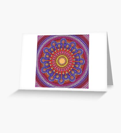 Jewel Drop Mandala Greeting Card