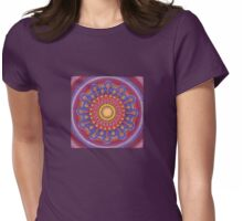 Jewel Drop Mandala Womens Fitted T-Shirt
