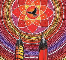 Red Tailed Black Cockatoo Dreamcatcher by Elspeth McLean