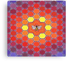 Bee Sacred Geometry Canvas Print