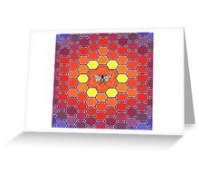Bee Sacred Geometry Greeting Card