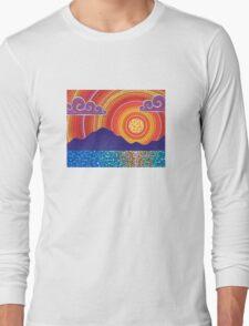 Elegant Sunset over Mountains Long Sleeve T-Shirt