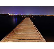 Pelican Point Jetty At Night  Photographic Print