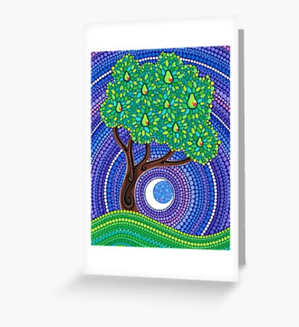Pear Tree of Longevity Greeting Card