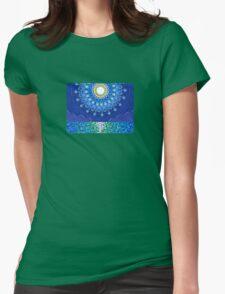 Full Moon Splendour Womens Fitted T-Shirt