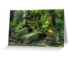 Nature overcoming graves Greeting Card