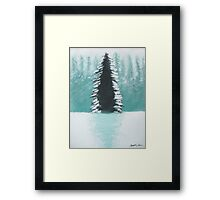 Christmas Tree in Forest Framed Print