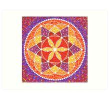 Sacred Geometry Star Flower Art Print
