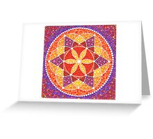Sacred Geometry Star Flower Greeting Card