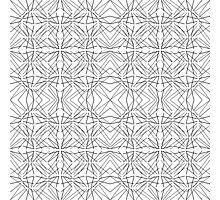 Modern Funky Geometric Line Pattern Photographic Print