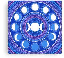Moon Cycle Mandala Canvas Print