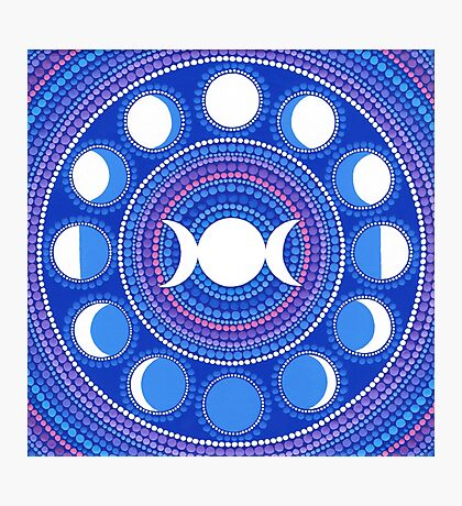 Moon Cycle Mandala Photographic Print