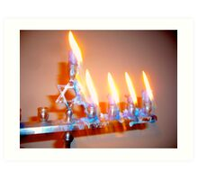 Hanukkah Candles Glow Art Print