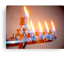 Hanukkah Candles Glow Canvas Print