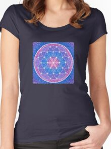 Starry Flower of Life Women's Fitted Scoop T-Shirt