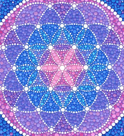 Starry Flower of Life Sticker