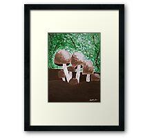 Mushrooms Painting Framed Print