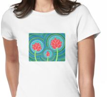 Lotus Family of Three Womens Fitted T-Shirt