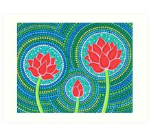 Lotus Family of Three Art Print