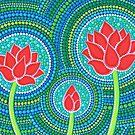 Lotus Family of Three by Elspeth McLean