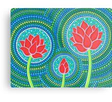 Lotus Family of Three Metal Print