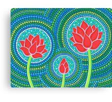 Lotus Family of Three Canvas Print