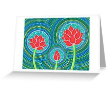 Lotus Family of Three Greeting Card