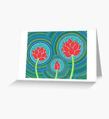 Lotus Family of Three Greeting Card