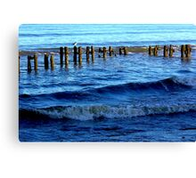 Sandsend  Sea Defence Canvas Print