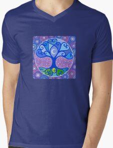 Moon-Tree Mandala Mens V-Neck T-Shirt